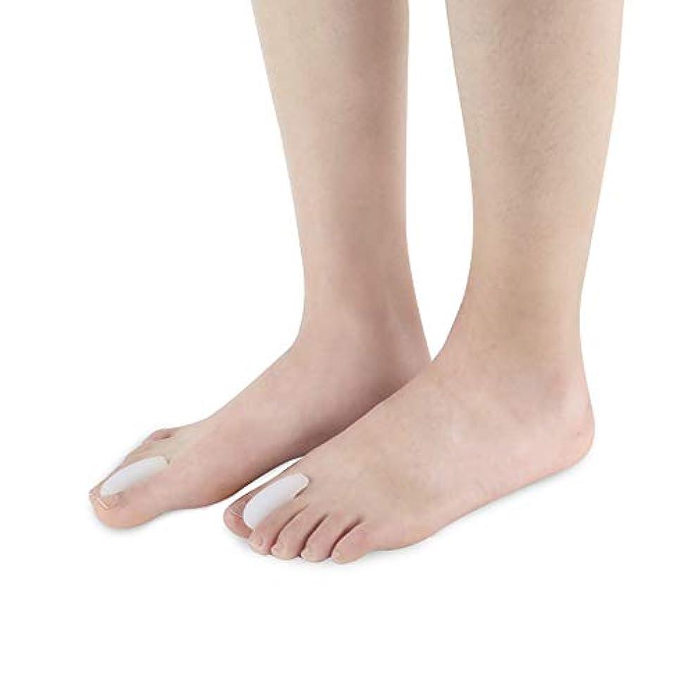 砲撃不器用偽つま先セパレーター反屈曲変形腱膜白補正分割つま先防止外反母趾スリッパSEBS素材ヨガやスポーツの後の痛みを和らげる,L
