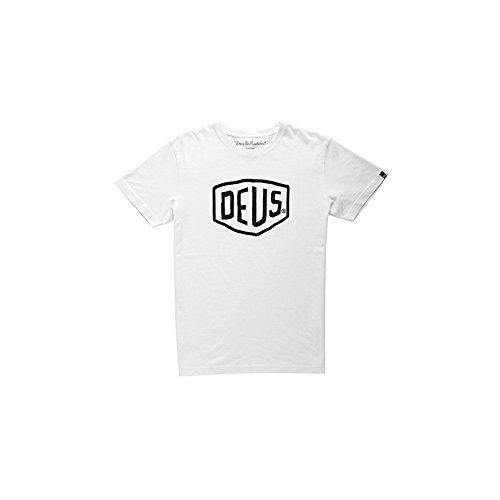 デウスエクスマキナ Deus ex Machina Tシャツ デウス DEUS Tシャツロゴ セレブ着用 T-SHIRT コットン メンズTシャツ (XS, White) [並行輸入品]