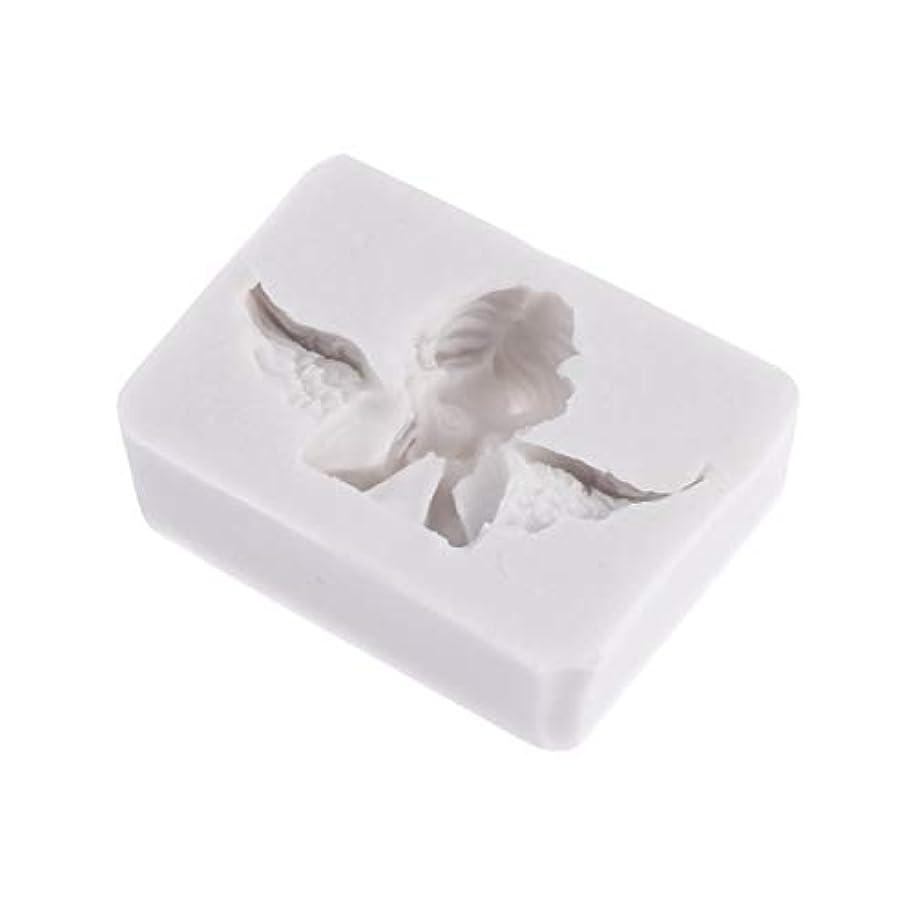 許可する中国豪華なHealifty 3Dシリコーン型天使形シリコーン石鹸キャンディーケーキ型クラフト彫刻ケーキ装飾型石膏壁用石膏セメント(ライトグレー)