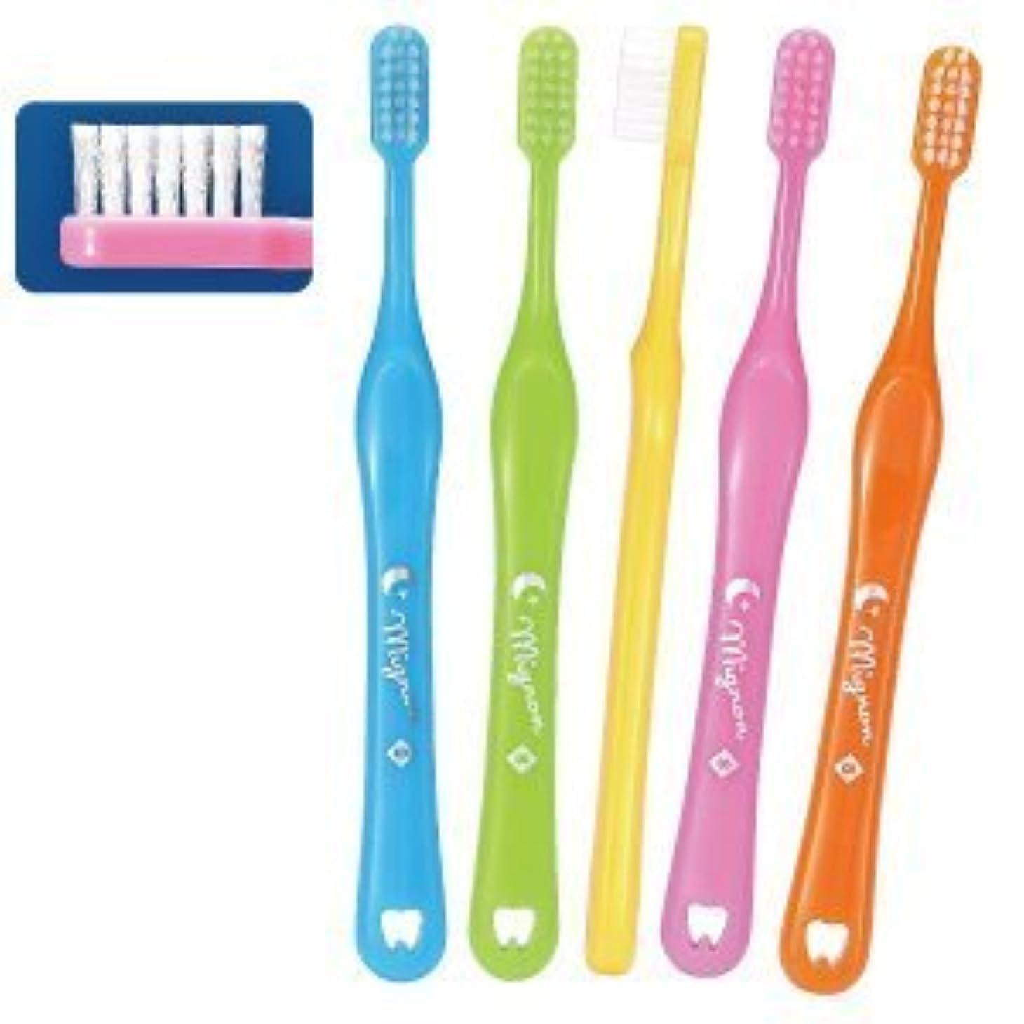 本質的ではない四豊かなMignon-ミニョン-歯ブラシ/Sやわらかめ/5本入り