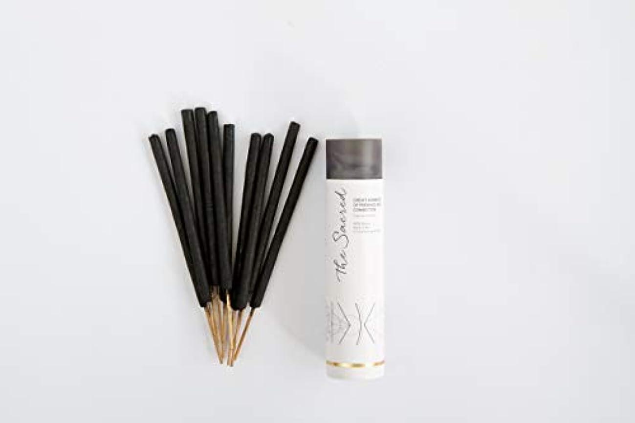 ほうき相関するスクラッチThe SacredバリIncense – 10プレミアムLong Burn ' Fat ' Sticks。100 % Organic & Natural Ingredients。