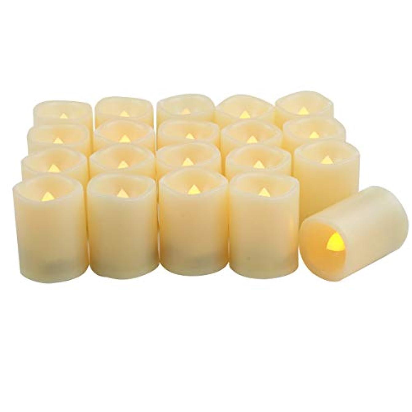 発生地区吸収iZAN 火を使わない電池式LED灯明キャンドル 20個パック 明るい揺らめく電気灯明 装飾ライト クリスマスやホームパーティーやウェディングのデコレーションに 1.5インチx2インチの電池付き