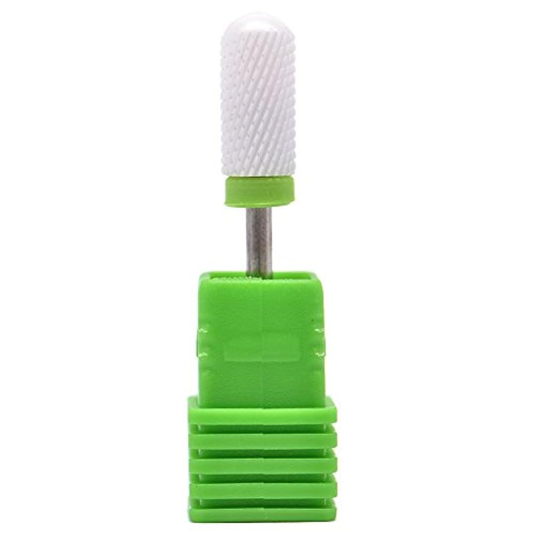 これら憎しみ漂流Oral Dentistry ネイルアート ドリルビット 丸い 研磨ヘッド ネイル グラインド ヘッド 爪 磨き 研磨 研削 セラミック 全3色 (グリーンC(粗研削))