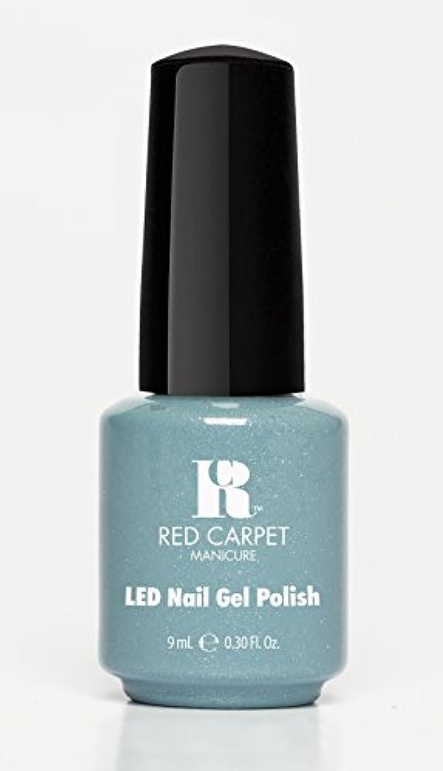 送料ジェム乳白色Red Carpet Manicure - LED Nail Gel Polish - Power of the Gemstones - Aquamarine - 0.3oz/9ml