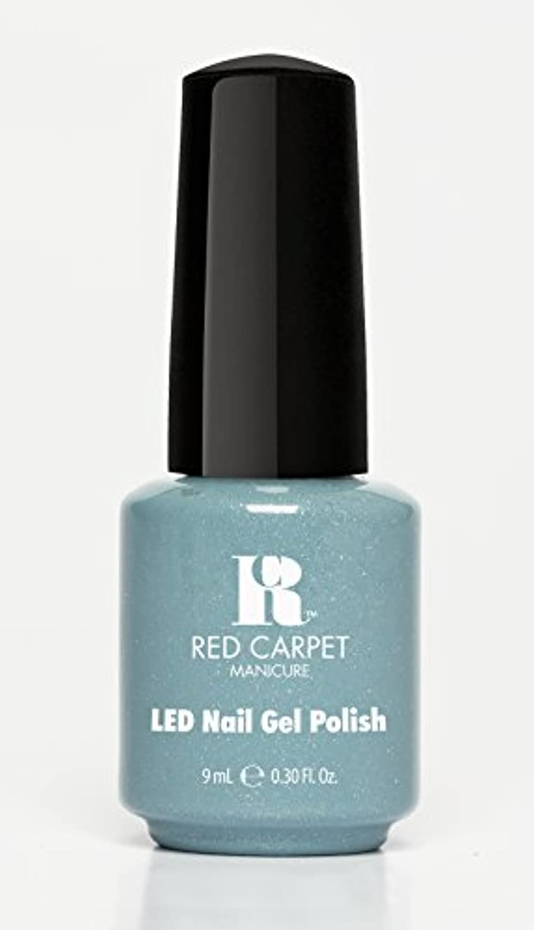 重要なカウンタ担当者Red Carpet Manicure - LED Nail Gel Polish - Power of the Gemstones - Aquamarine - 0.3oz/9ml