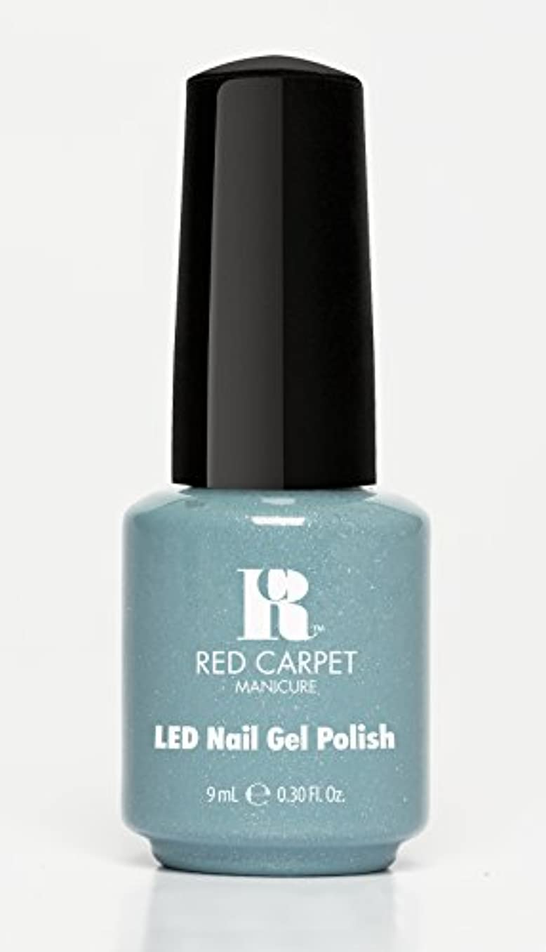 ショッキングチョップ労働Red Carpet Manicure - LED Nail Gel Polish - Power of the Gemstones - Aquamarine - 0.3oz/9ml