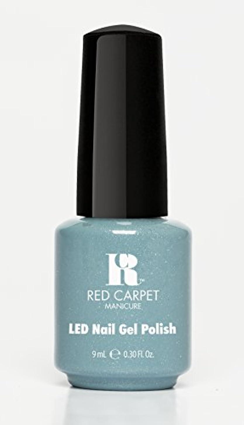 乳白色チャンピオン熱意Red Carpet Manicure - LED Nail Gel Polish - Power of the Gemstones - Aquamarine - 0.3oz/9ml