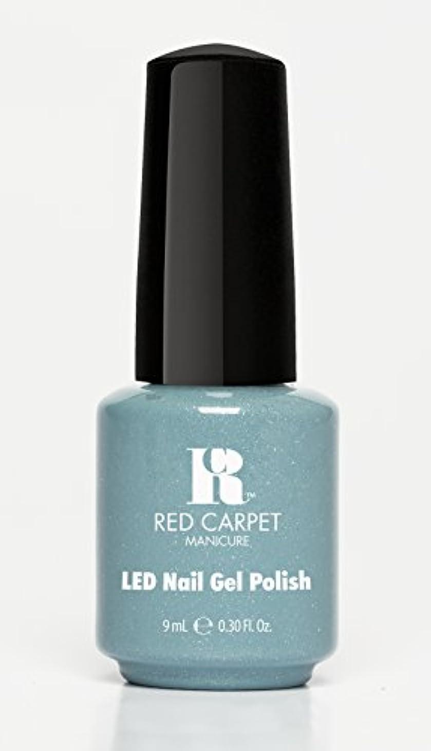 助けになる持参メガロポリスRed Carpet Manicure - LED Nail Gel Polish - Power of the Gemstones - Aquamarine - 0.3oz/9ml