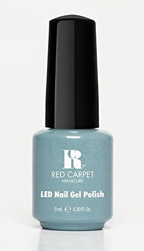 剥ぎ取る牛肉薄汚いRed Carpet Manicure - LED Nail Gel Polish - Power of the Gemstones - Aquamarine - 0.3oz/9ml