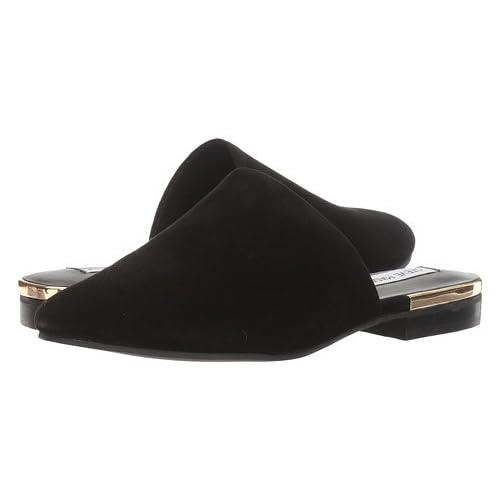 (スティーブマデン)STEVE MADDEN レディースクロッグ・靴・その他 Snapp Black Suede 10 27cm M [並行輸入品]