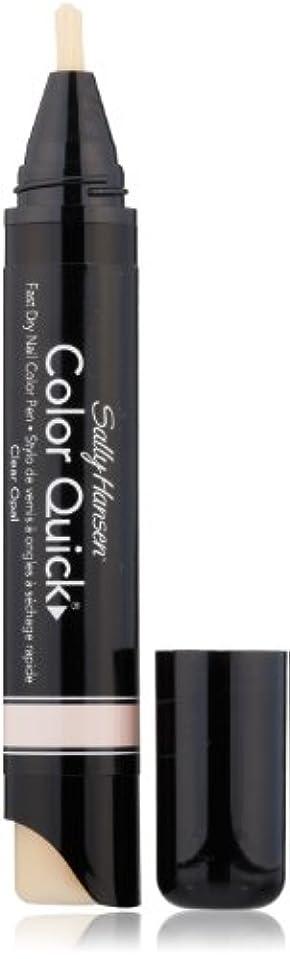 ティーンエイジャー裕福な効率的SALLY HANSEN COLOR QUICK FAST DRY NAIL COLOR PEN #01 CLEAR OPAL