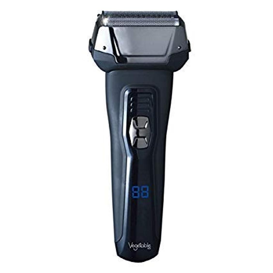 入札ミルク消える髭剃り 電気シェーバー Vegetable 3枚刃 充電交流式ウォッシャブルデジタルシェーバー GD-S307D