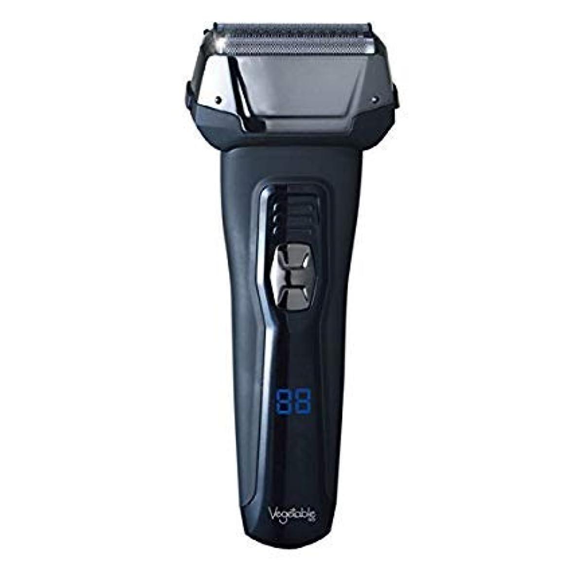 髭剃り 電気シェーバー Vegetable 3枚刃 充電交流式ウォッシャブルデジタルシェーバー GD-S307D