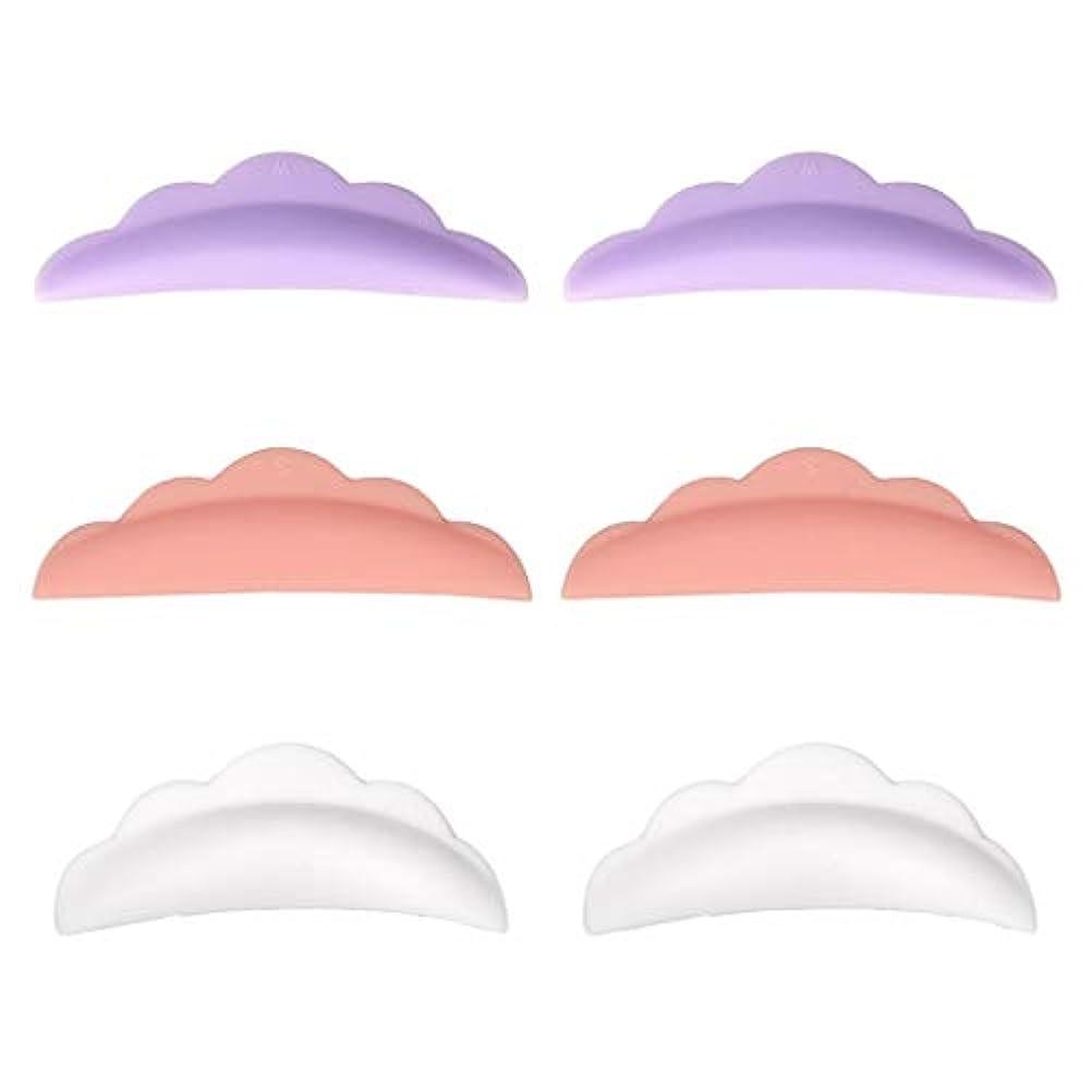 ニンニク恐れウサギまつげカーリングパッド まつげパッド シリコーン やわらかい 再利用可能 使いやすい 3対セット