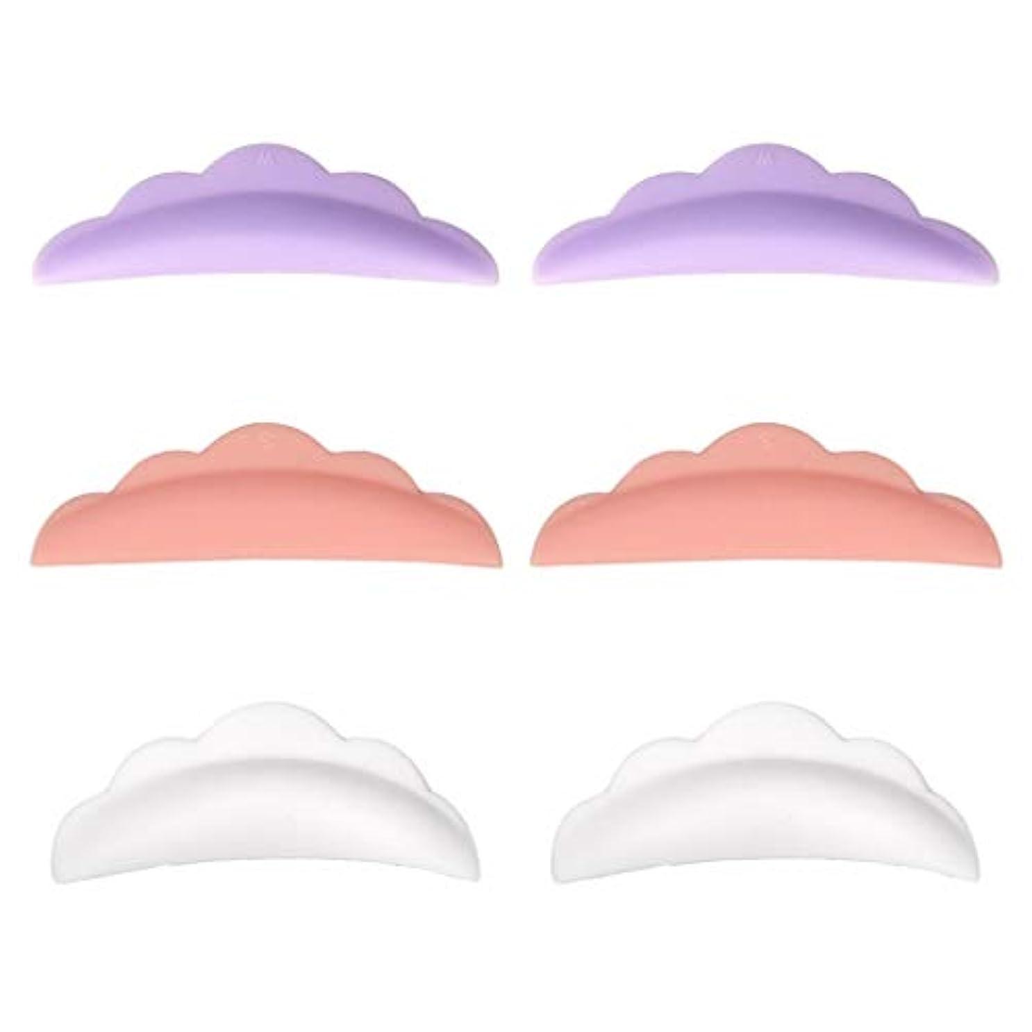 シンプトンアクセサリー医薬まつげカーリングパッド まつげパッド シリコーン やわらかい 再利用可能 使いやすい 3対セット