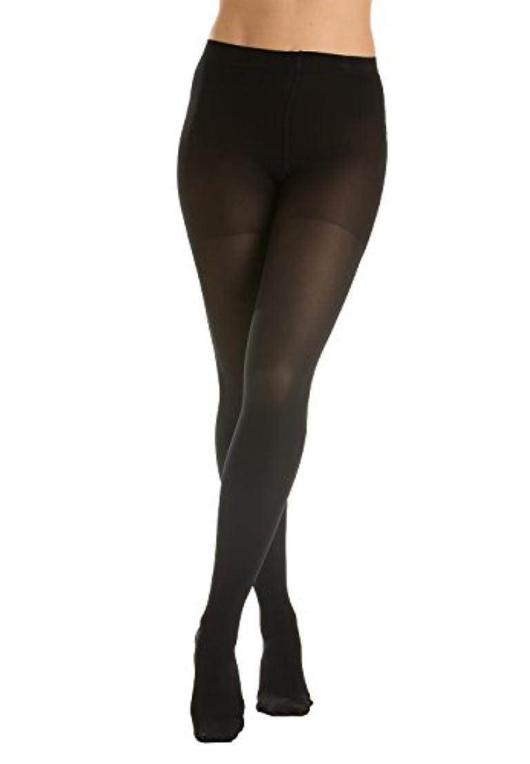 時系列ストレスの多い肖像画GABRIALLA Sheer Pantyhose, Compression (20-22 mmHg) Black, Queen Plus by GABRIALLA