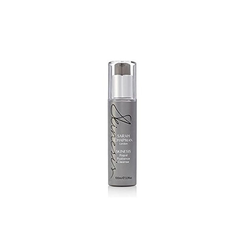 かび臭い荷物静的サラ?チャップマン迅速な輝きの浄化(100ミリリットル) x4 - Sarah Chapman Skinesis Rapid Radiance Cleanse (100ml) (Pack of 4) [並行輸入品]