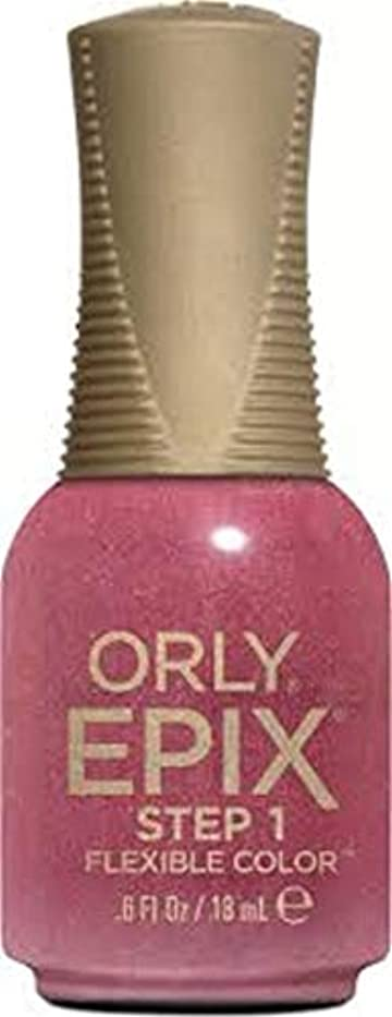 ほのめかす具体的に歯科のOrly Epix Flexible Color Lacquer - Hillside Hideout - 0.6oz / 18ml