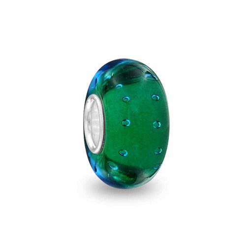 [해외][브링 보석] Bling Jewelry 블루 그린 버블 유럽 스타일 매력 구슬 무라노 유리 베네치아 유리 스털링 실버 SILVER 925 가져 오기/[Bring Jewelry] Bling Jewelry Blue Green Bubble European Style Charm Beads Murano Glass Venetian Glass Sterli...