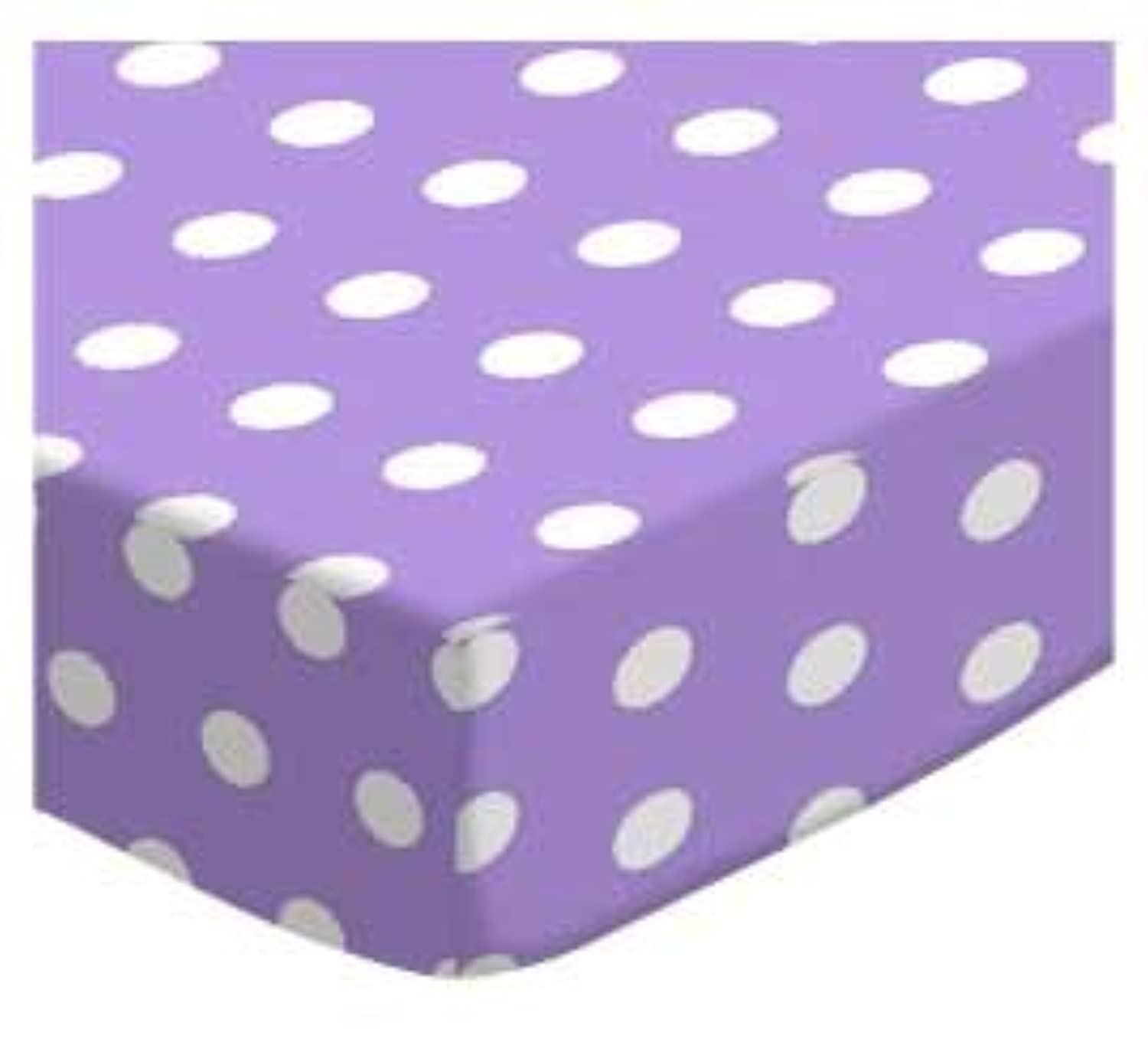 SheetWorld Fitted Cradle Sheet - Polka Dots Lavender - Made In USA by sheetworld