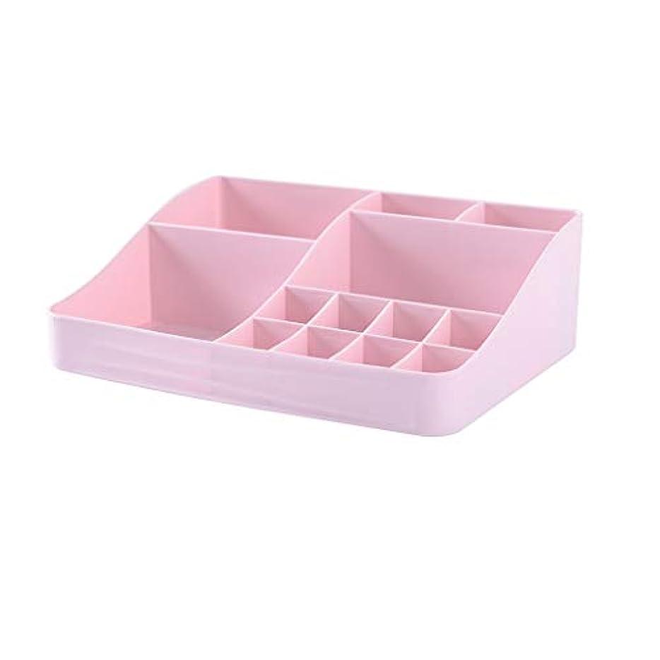 続ける富豪ネックレスマルチカラー化粧品収納ボックスデスクトッププラスチックジュエリー口紅ネイルオイルデブリ収納ボックスラック (Color : A)