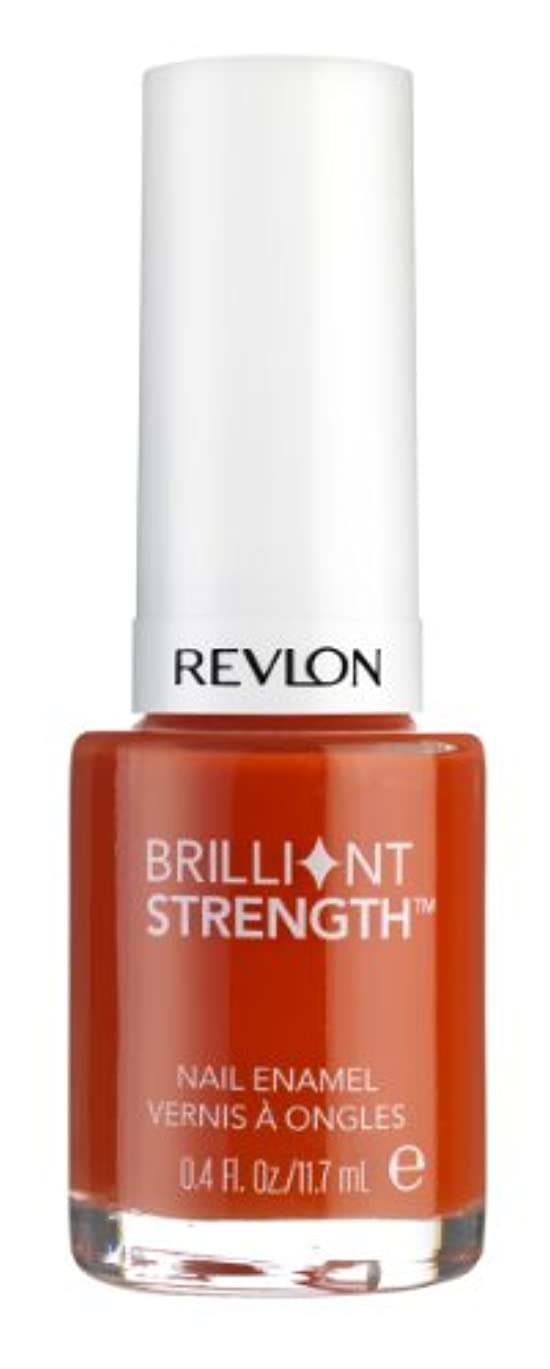 REVLON BRILLIANT STRENGTH NAIL ENAMEL #130 INFLAME