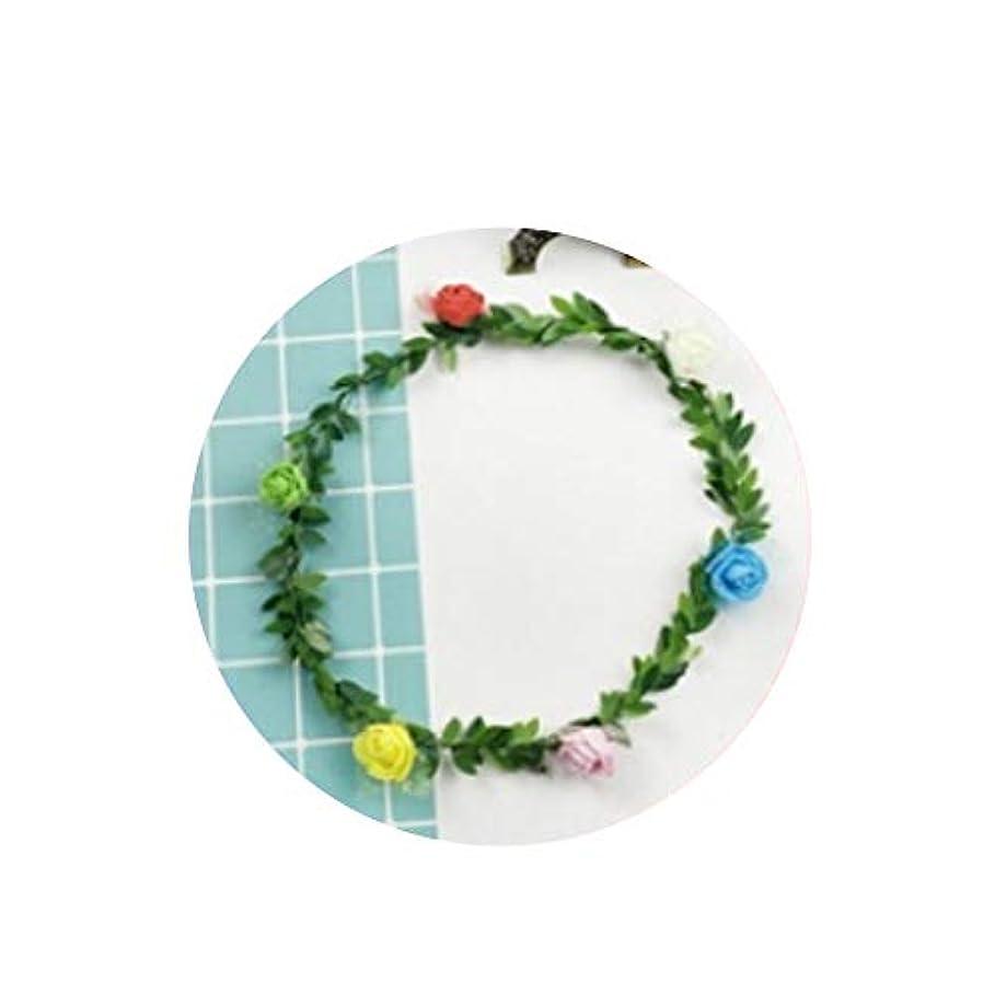 鳴らす傑作可聴非点灯緑の葉の花輪は、籐の大人の飾り子供の日のパフォーマンスは非点灯緑の葉の花輪小さな贈り物を小道具ヘッドバンド