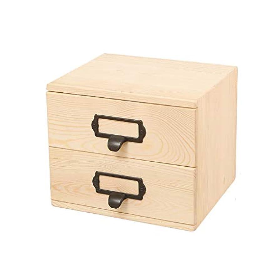スポットベギン依存TYUIO 60個のスロットエッセンシャルオイル木製ボックス、天然木収納ケース、ディスプレイホルダー、ギフトに最適主催