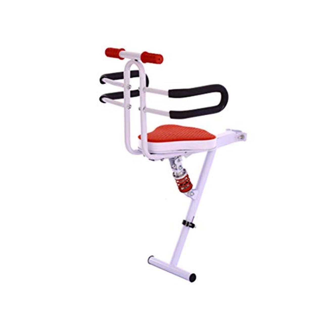 事実上魂欠伸子供用自転車用シート、チャイルドクイックリリースシート自転車用フロントアームマウント付き降車シート