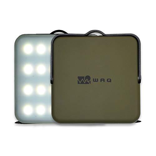 WAQ LEDランタン 暖色 電球色 昼光色 USB充電式 モバイルバッテリー 10000mah 12調光モード アウトドア 防災 【1000ルーメン/連続点灯100時間/PSE取得済】 (オリーブ)