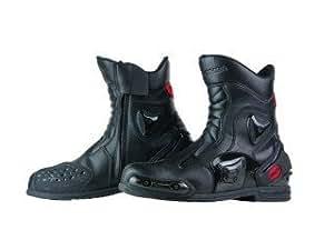 コミネ(Komine) ブーツ BK-067 プロテクト スポーツ ショート ライディングブーツ(トゥースライダー有り) ブラック 26.5cm 05-067