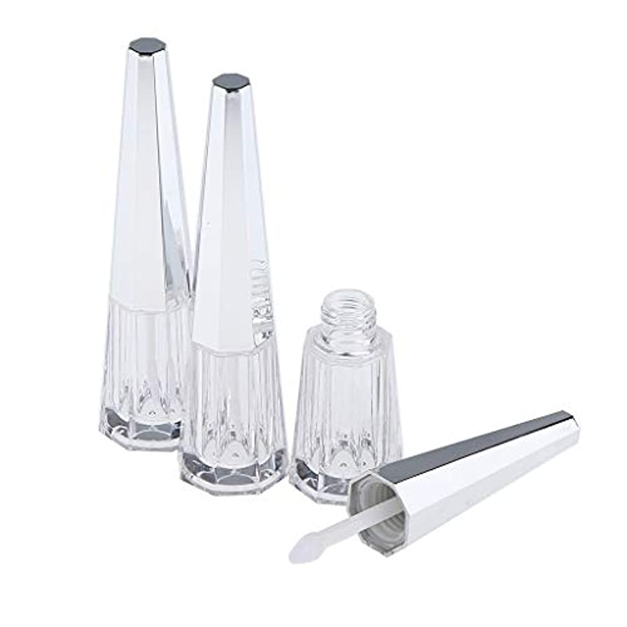 もっとゴム前提条件B Baosity 3本 リップグロスボトル 手作り コスメ ボトル 詰替え容器