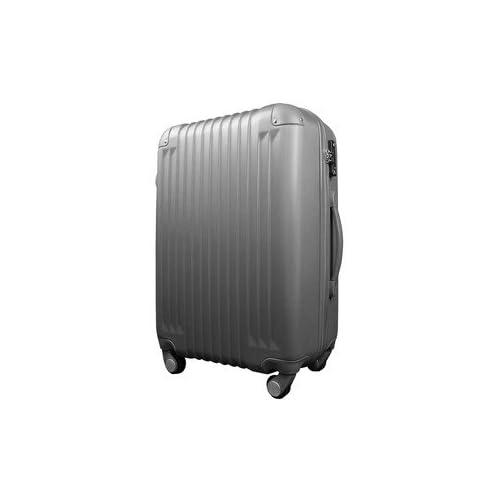 スーツケース/キャリーバッグ 【Lサイズ/大型7~14日】 TSA搭載 軽量 ファスナー ガンメタ