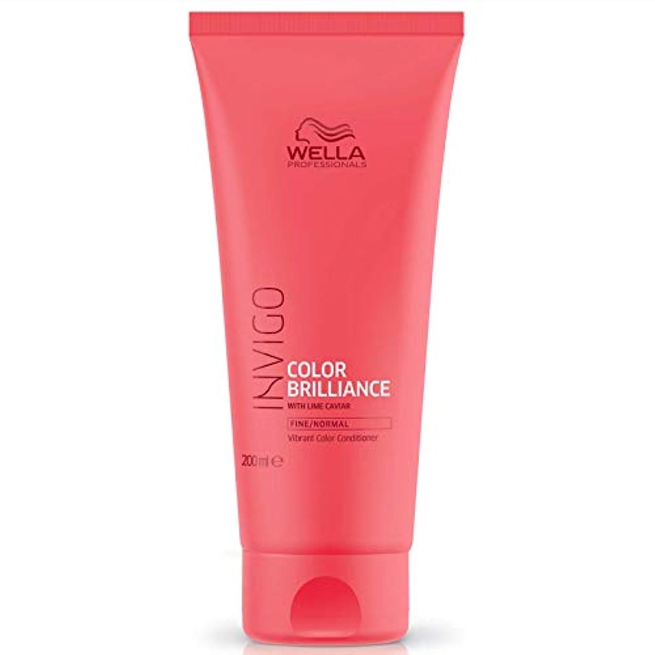 泣いている死傷者ベアリングサークルウエラ インヴィゴ ファイン/ノーマル カラー コンディショナー Wella Invigo Color Brilliance With Lime Caviar Fine/Normal Vibrant Color Conditioner...