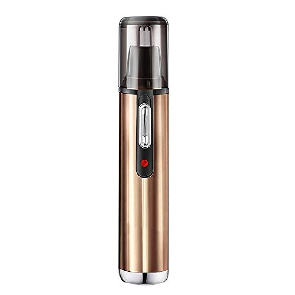ペン腕脱走ノーズヘアトリマー/LED充電インジケータライト/内蔵360°回転カッターヘッド/ヘッドクリーニング可能/サイレントデザイン/プッシュアウト電子スイッチ/幅広いアプリケーション 作り方がすぐれている