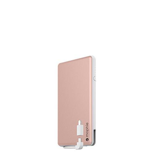 mophie powerstation plus ユニバーサル モバイル バッテリー 6,000mAh Apple iPhone/iPod/iPad (ローズゴールド)