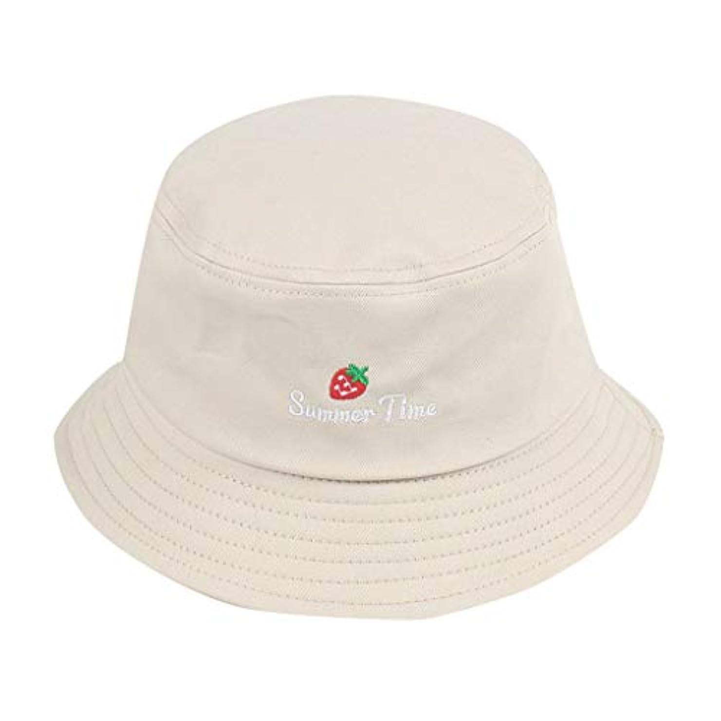 エンディング岩トランクライブラリ帽子 夏 発送 漁師の帽子 レディース ハットラップ 森ガール かわいい 吸汗通気 女優帽 日よけ UVカット 帽子 ハット レディース 棉 日よけ つば広 紫外線対策 小顔効果抜群 刺繍 いちご ROSE ROMAN
