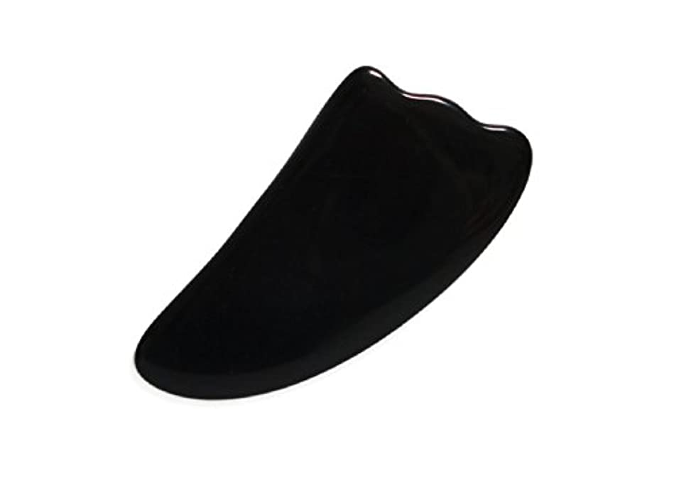 安定したポゴスティックジャンプ臨検天然蜜蝋使用! かっさプレート 4色 (黒色)
