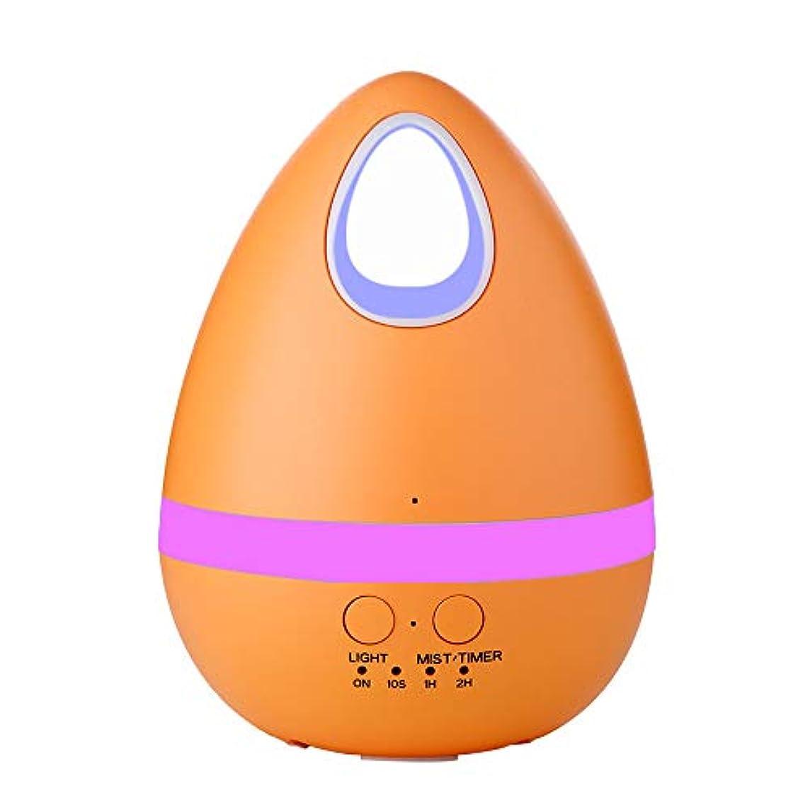 赤道娘娘エッセンシャルオイルディフューザー、アロマ加湿器、7色のグラデーションライト、時限スプレー、秒の間欠スプレー、ドライバーン防止、超静かなタイミング機能。,Orange