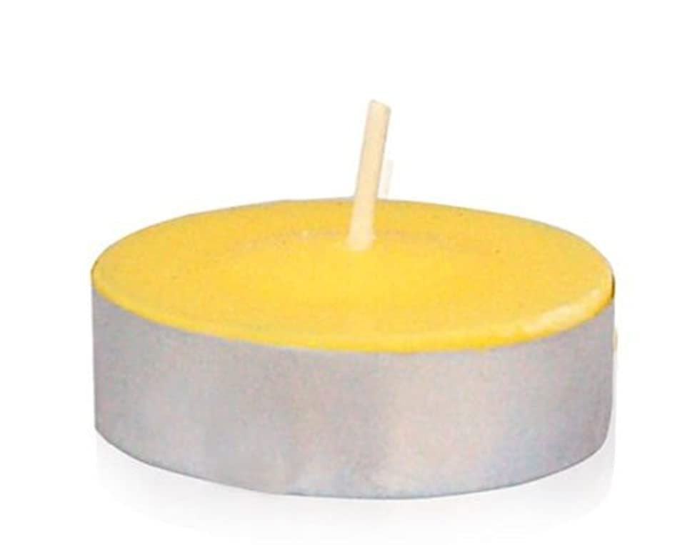 粘り強いシャークはっきりとZest Candle CTZ-009 Yellow Citronella Tealight Candles -100pcs-Box