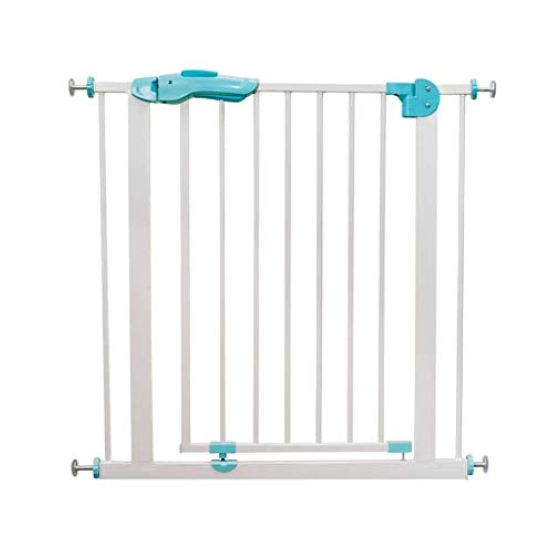 保護フェンスセーフティゲート階段手すりフェンスベビーフェンスペットフェンスフェンスドアアイソレーションバリアフリーパンチング (Color : 白, Size : 77cm)