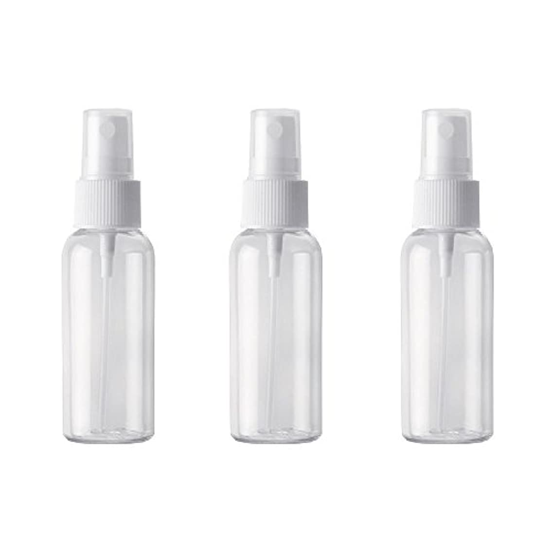 九月癒す治安判事小分けボトル スプレーボトル 50ml おしゃれ 空ボトル 3本セット 環境保護の材料 PET素材 化粧水 詰替用ボトル 旅行用品 (透明)