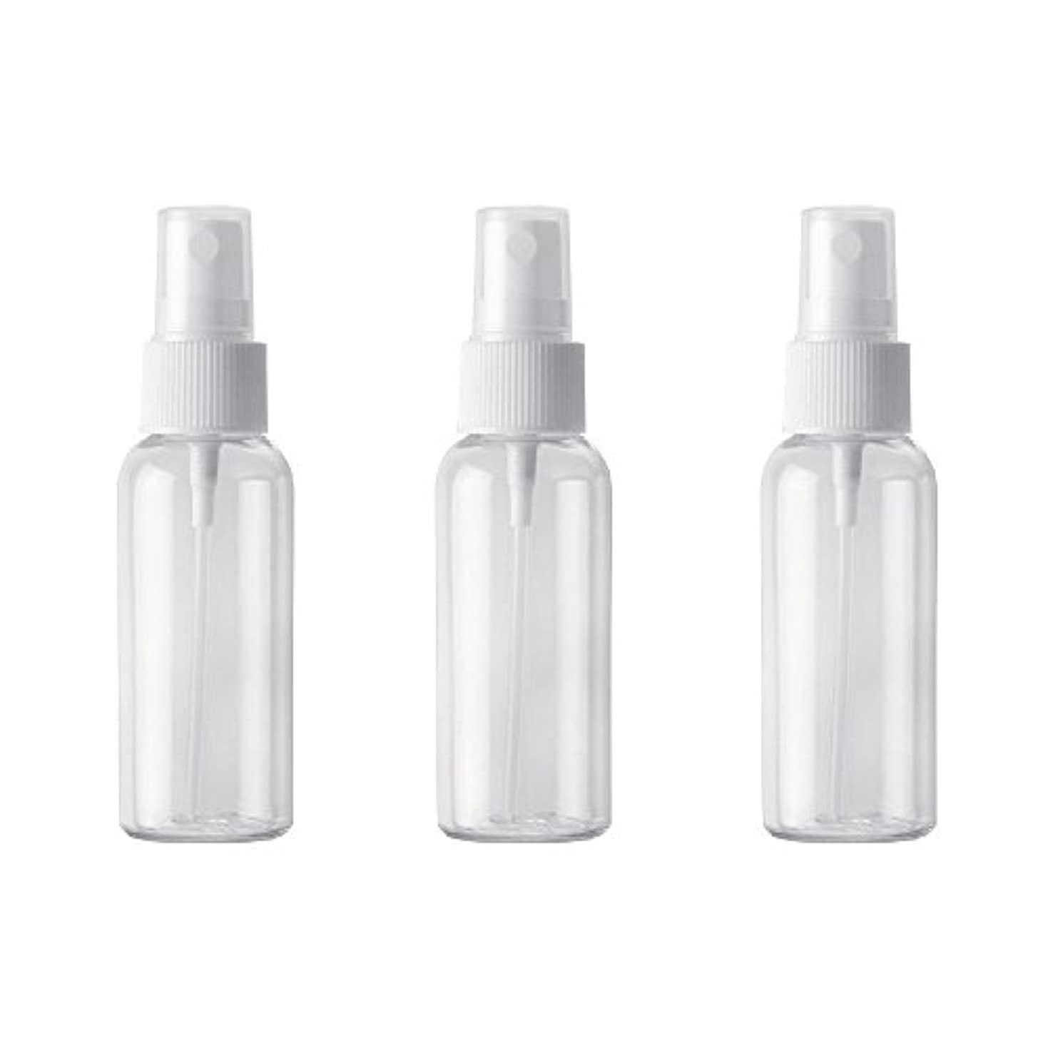 小分けボトル スプレーボトル 50ml おしゃれ 空ボトル 3本セット 環境保護の材料 PET素材 化粧水 詰替用ボトル 旅行用品 (透明)