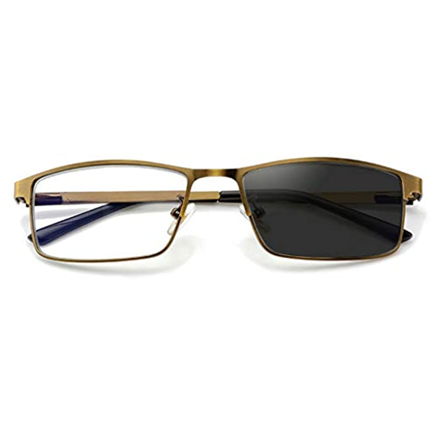クラシックスタイルバイフォーカル老眼鏡メンズレディース眼鏡フレームリーダー - オフィス用ホームサングラスを運転するため