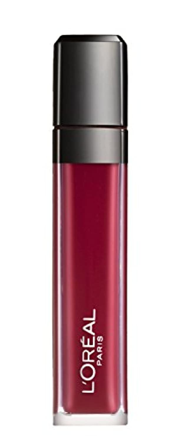 ペレット保護日の出L´OREAL PARIS MATTE 407 Smoke me Up Lipgloss Glossy Rot