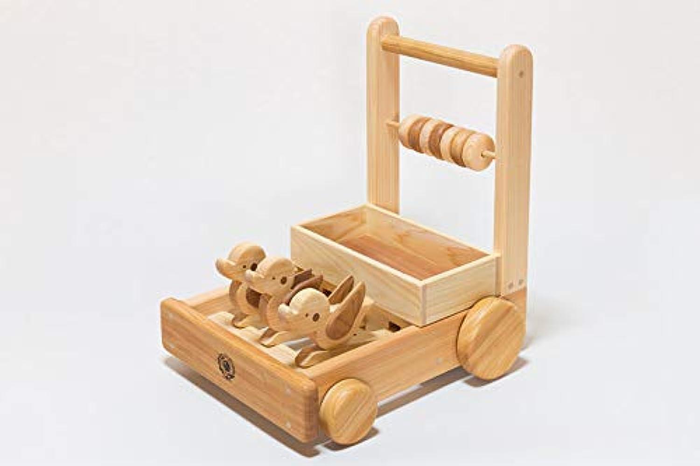 ピヨピヨておしぐるま 【安全な木のおもちゃ 出産祝い 節句祝い 手作り 土佐ヒノキ】
