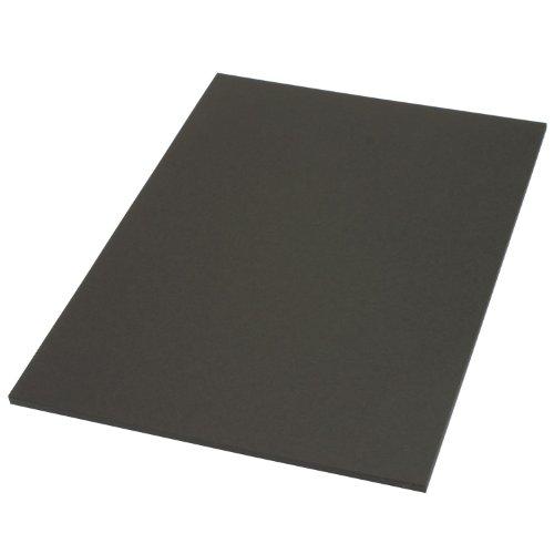 色上質紙 北越紀州製紙 超厚口 黒 くろ ブラック 約0.26mm/枚 Y目 A4 20枚