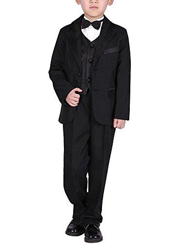 キッズ 子供スーツ 男の子 フォーマル ジャケット ベストズボン 5点セット洋服 フォーマルスーツ ...
