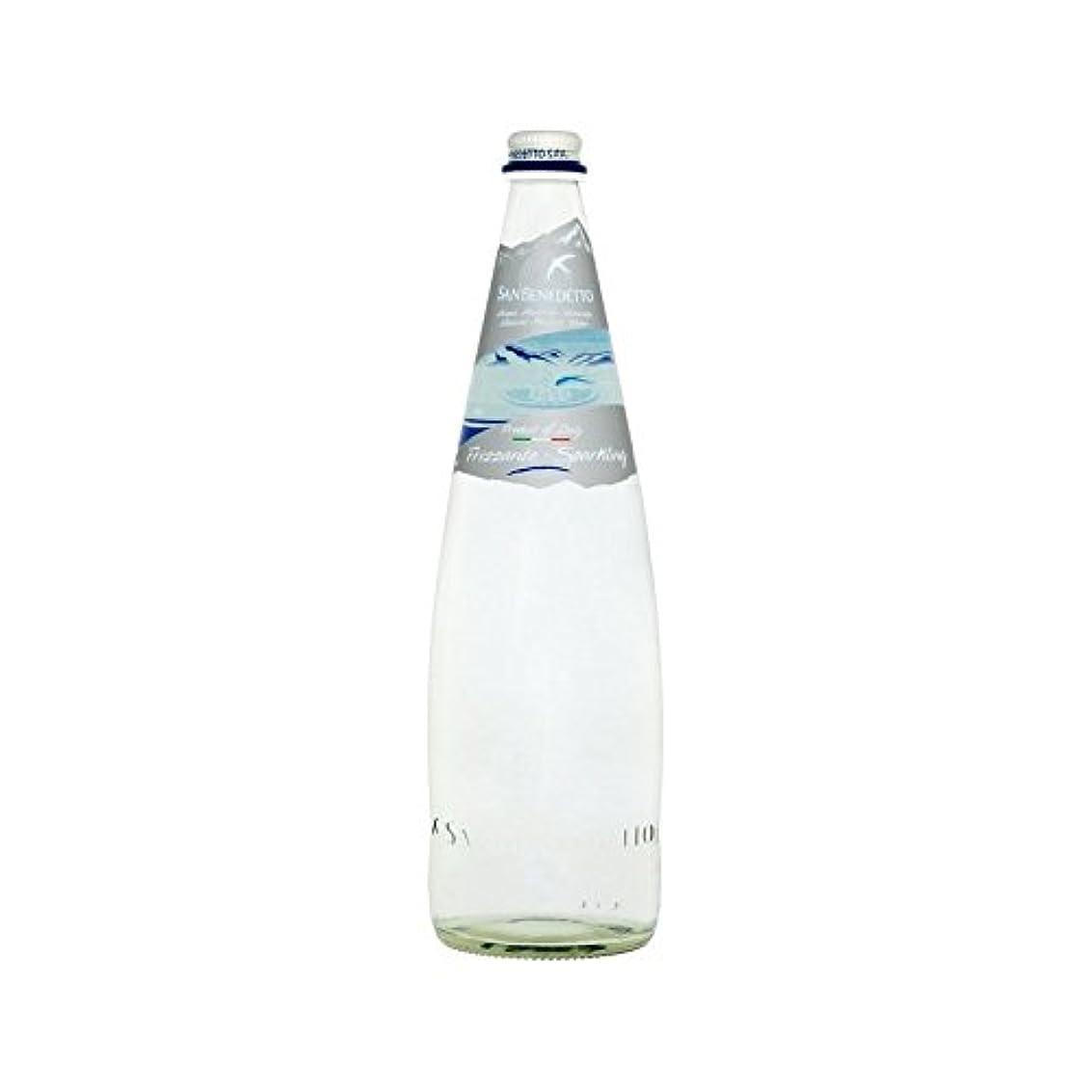 指紋キノコ特性[San Benedetto ] サンベネデット威信のミネラルウォーター(輝く)1リットル - San Benedetto Prestige Mineral Water (Sparkling) 1L [並行輸入品]