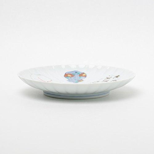 伊万里焼 ひょうたん 輪花皿 16cm 徳七窯 to70566